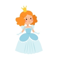 Princess character isolated vector image