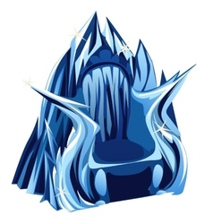 Royal gothic throne of ice image in cartoon style vector