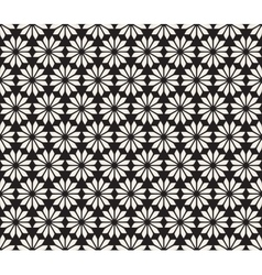 Seamless Black and White Floral Pattern vector image vector image