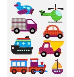 Set of transport toys vector image