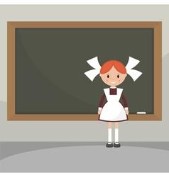Soviet schoolgirl from school boards vector image vector image