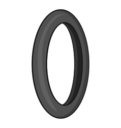 Tire for bicycle icon gray monochrome style vector