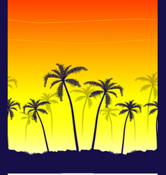 Tropical summer print with palm vector