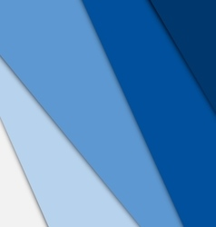 Blue overlap layer paper material design vector