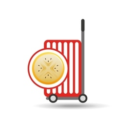 Trolley shop juicy passionfruit vector