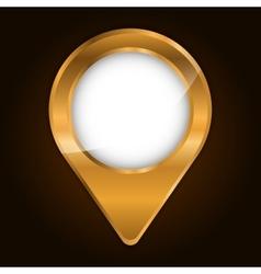 Metallic finish gps pin icon image vector