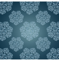 Seamless patterns with lace flowers in victorian vector