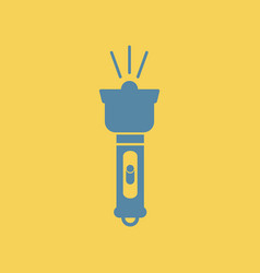 Flat icon electric flashlight vector