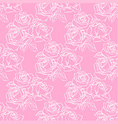 Floral seamless texture with roses vector