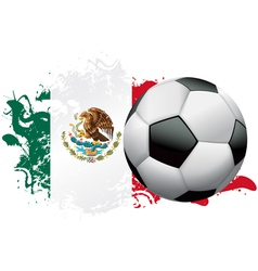 Mexico soccer grunge design vector