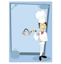 Funny chef with copyspace vector