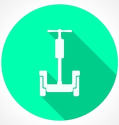 Circle green icon for alternative transport for vector