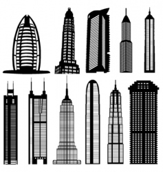Skyscraper buildings vector