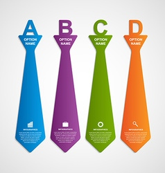 Modern infographic on business in the form of tie vector image