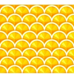 Seamless background with orange slices vector