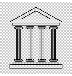 Historical building line icon vector