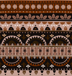 Ethnic tribal patterns brushes vector