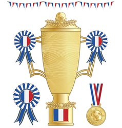 France football trophy vector