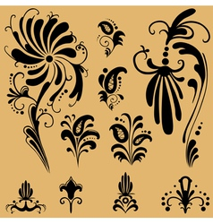 Pattern elements for design vector