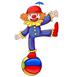 A simple drawing of a playful clown vector