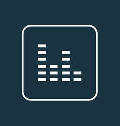 Audio mixer outline symbol premium quality vector