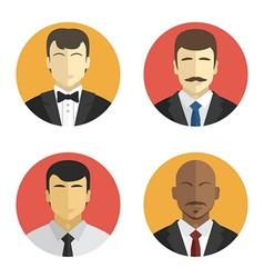 avatars men in suits of different nationalities vector image