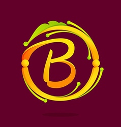 B letter monogram design elements vector