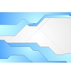 Blue and white tech corporate background vector image vector image