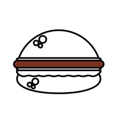 burger fast food outline vector image