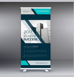 business standee roll up banner design vector image vector image