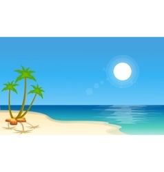 Cartoon beach scenery collection stock vector image
