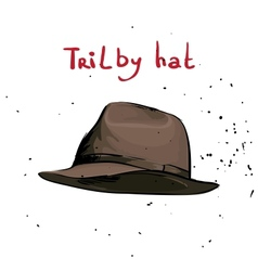 Classic hat vector image vector image
