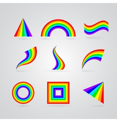 colorful rainbow symbols for your design vector image vector image