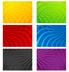 colorful wavy line backgrounds vector image