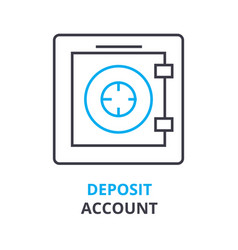 deposit account concept outline icon linear vector image