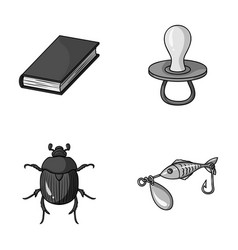 education animal and other monochrome icon in vector image vector image
