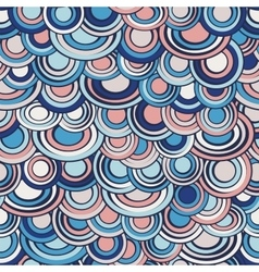 Fish scale made of circles seamless pattern vector