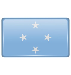 Flags Micronesia in the form of a magnet on vector image