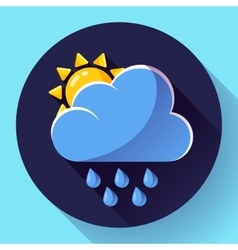 flat color weather meteorology icon with vector image vector image