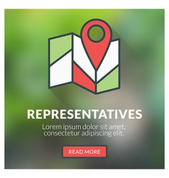 Flat design concept for representatives wit vector