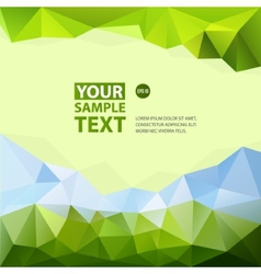 Frame from triangle abstract background with text vector image