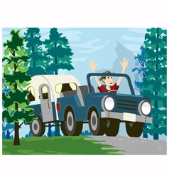 Going Camping vector image vector image