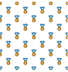 Gold medal pattern seamless vector