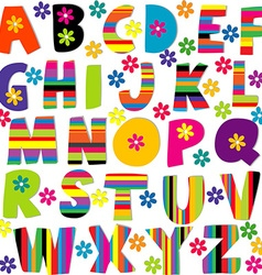 Happy alphabet set vector