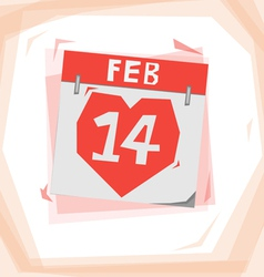 Heart calendar vector