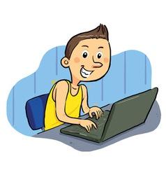 Laptop geek vector