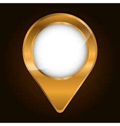metallic finish gps pin icon image vector image vector image