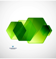 Modern geometrical glass design template vector image