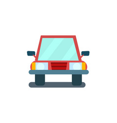 Modern sedan isolated icon vector