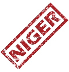New niger rubber stamp vector